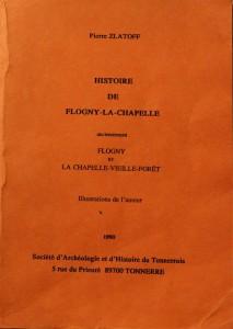 livre de Zlatoff Pierre sur l'histoire de flogny la chapelle
